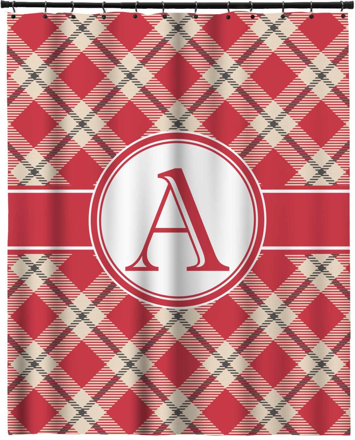 Red Amp Tan Plaid Extra Long Shower Curtain