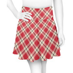 Red & Tan Plaid Skater Skirt (Personalized)