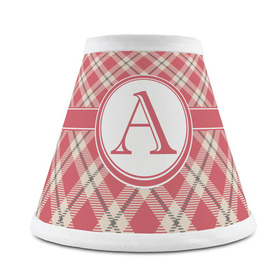 Red & Tan Plaid Chandelier Lamp Shade (Personalized)
