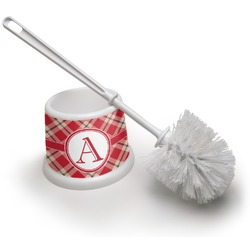 Red & Tan Plaid Toilet Brush (Personalized)
