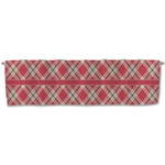 Red & Tan Plaid Valance (Personalized)