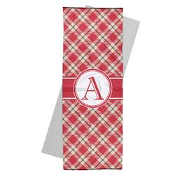 Red & Tan Plaid Yoga Mat Towel (Personalized)