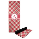 Red & Tan Plaid Yoga Mat (Personalized)