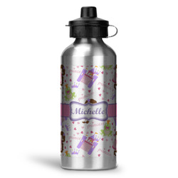 Princess Print Water Bottle - Aluminum - 20 oz (Personalized)