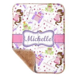 "Princess Print Sherpa Baby Blanket 30"" x 40"" (Personalized)"