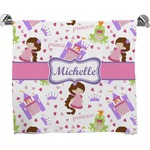 Princess Print Full Print Bath Towel (Personalized)