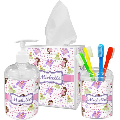 Princess Print Bathroom Accessories Set (Personalized)