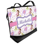 Princess Print Beach Tote Bag (Personalized)