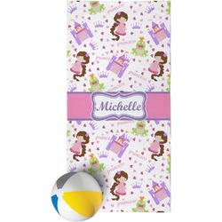 Princess Print Beach Towel (Personalized)