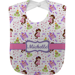 Princess Print Baby Bib (Personalized)