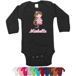 Princess Print Long Sleeves Bodysuit - 12 Colors (Personalized)