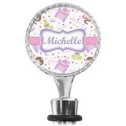 Princess Print Wine Bottle Stopper (Personalized)