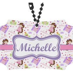 Princess Print Rear View Mirror Ornament (Personalized)