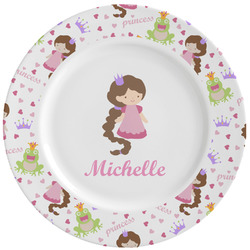 Princess Print Ceramic Dinner Plates (Set of 4) (Personalized)