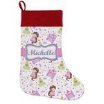 Princess Print Holiday Stocking w/ Name or Text