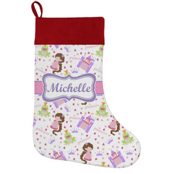 Princess Print Holiday Stocking w/ Name or Text