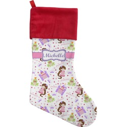 Princess Print Christmas Stocking (Personalized)