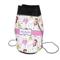 Princess Print Neoprene Drawstring Backpack (Personalized)