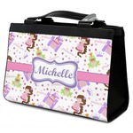 Princess Print Classic Tote Purse w/ Leather Trim (Personalized)
