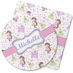 Princess Print Rubber Backed Coaster (Personalized)