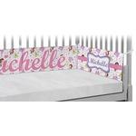 Princess Print Crib Bumper Pads (Personalized)