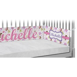 Princess Print Crib Bumper Pads (Personalized)