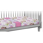 Princess Print Crib Fitted Sheet (Personalized)