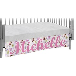 Princess Print Crib Skirt (Personalized)
