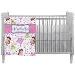 Princess Print Crib Comforter / Quilt (Personalized)