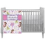 Princess Print Crib Comforter / Quilt (Personalized)