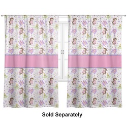 "Princess Print Curtains - 20""x54"" Panels - Lined (2 Panels Per Set) (Personalized)"