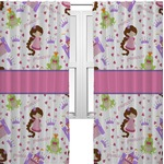 Princess Print Curtains (2 Panels Per Set) (Personalized)