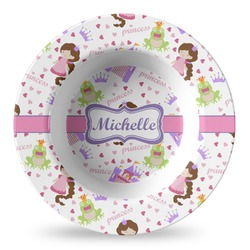 Princess Print Plastic Bowl - Microwave Safe - Composite Polymer (Personalized)