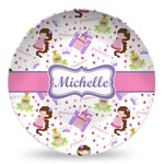 Princess Print Microwave Safe Plastic Plate - Composite Polymer (Personalized)