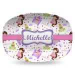 Princess Print Plastic Platter - Microwave & Oven Safe Composite Polymer (Personalized)