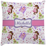Princess Print Decorative Pillow Case (Personalized)
