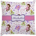 Princess Print Decorative Pillow Case (Personalized)