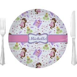 """Princess Print 10"""" Glass Lunch / Dinner Plates - Single or Set (Personalized)"""