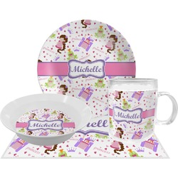 Princess Print Dinner Set - 4 Pc (Personalized)