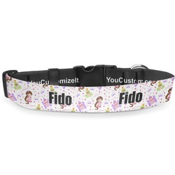 """Princess Print Deluxe Dog Collar - Toy (6"""" to 8.5"""") (Personalized)"""