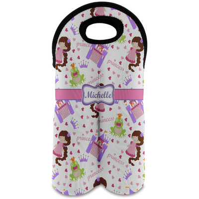 Princess Print Wine Tote Bag (2 Bottles) (Personalized)