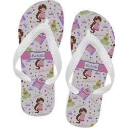 Princess Print Flip Flops - XSmall (Personalized)
