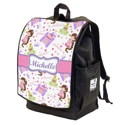 Princess Print Backpack w/ Front Flap  (Personalized)