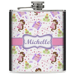 Princess Print Genuine Leather Flask (Personalized)
