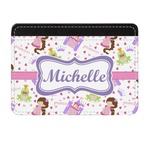 Princess Print Genuine Leather Front Pocket Wallet (Personalized)