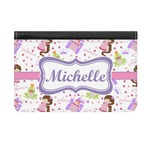 Princess Print Genuine Leather ID & Card Wallet - Slim Style (Personalized)