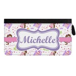 Princess Print Genuine Leather Ladies Zippered Wallet (Personalized)