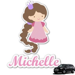Princess Print Graphic Car Decal (Personalized)