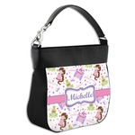Princess Print Hobo Purse w/ Genuine Leather Trim (Personalized)