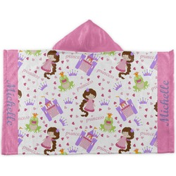 Princess Print Kids Hooded Towel (Personalized)